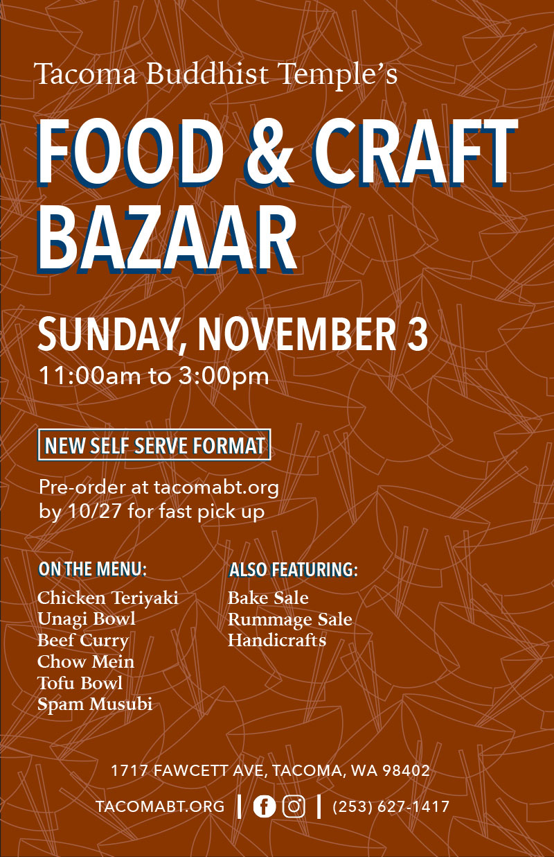 Tacoma Buddhist Temple's Food & Craft Bazaar 2019