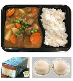 Beef curry bento